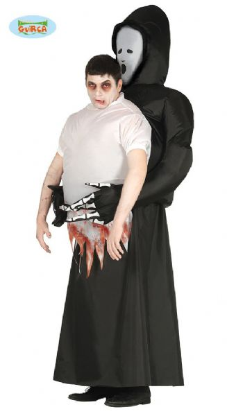 Adult Death Carry Me Costume for Halloween Pick me up Reaper Ghoul Fancy Dress